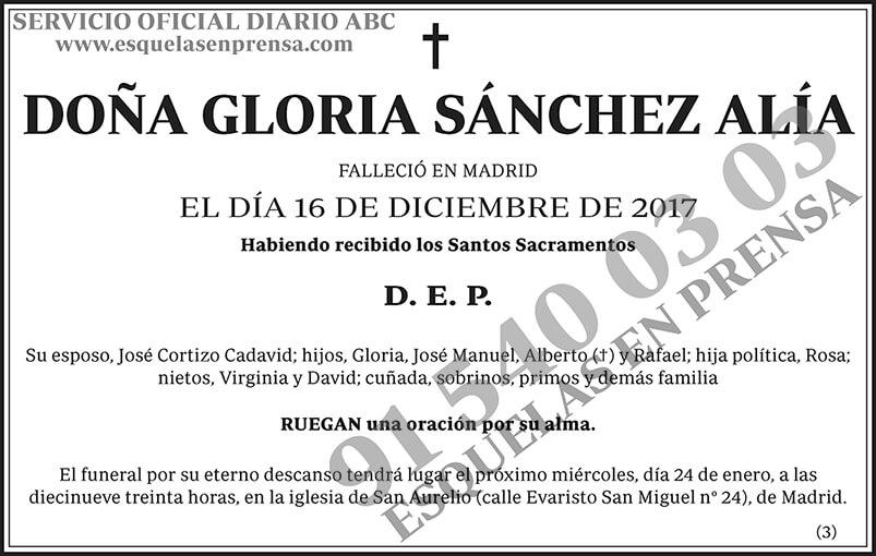 Gloria Sánchez Alía